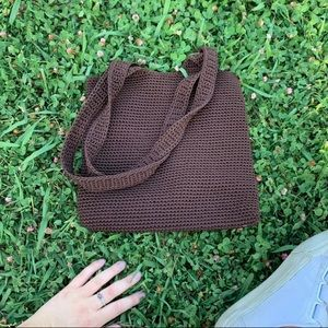 Brown Crochet Purse
